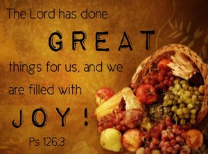 Top 20 Bible Verses for Thanksgiving.